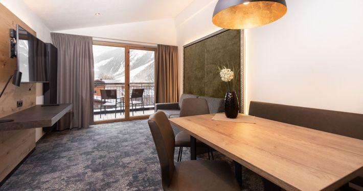 Ferienwohnung Wohnzimmer Apart Peppone Tirol