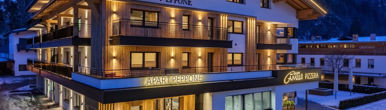 Luxus Appartments neu renoviertes Haus Außenansicht im Winter