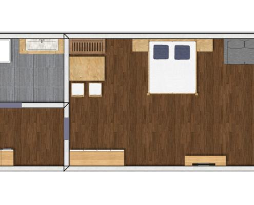 Grundriss Luxus Appartement Typ 5 im Apart Peppone