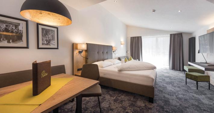 Schlafzimmer in Ferienwohnung Apart Peppone