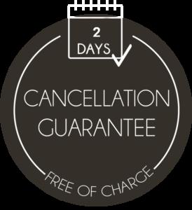 2 days cancellation guarantee