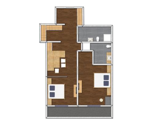 Grundriss Appartement, Ferienwohnung Ötztal Tirol